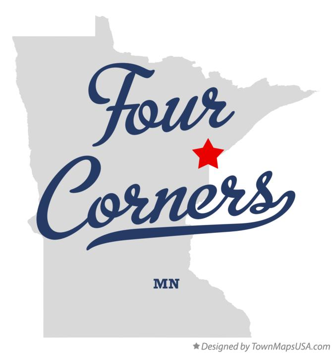 Map of Four Corners Minnesota MN