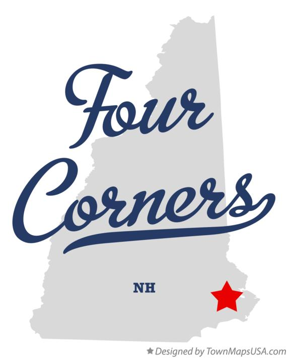 Map of Four Corners New Hampshire NH