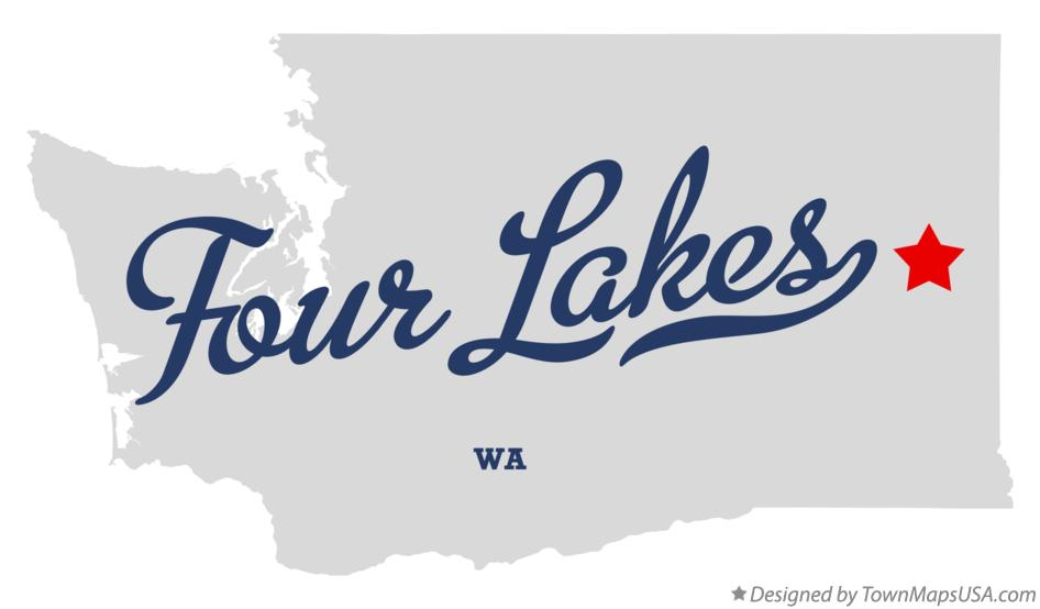 Map of Four Lakes Washington WA