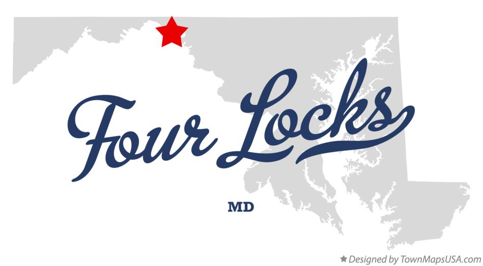 Map of Four Locks Maryland MD