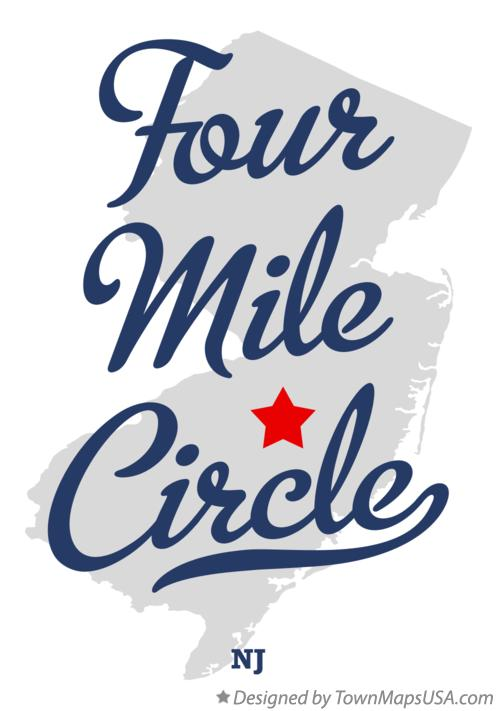 Map of Four Mile Circle New Jersey NJ