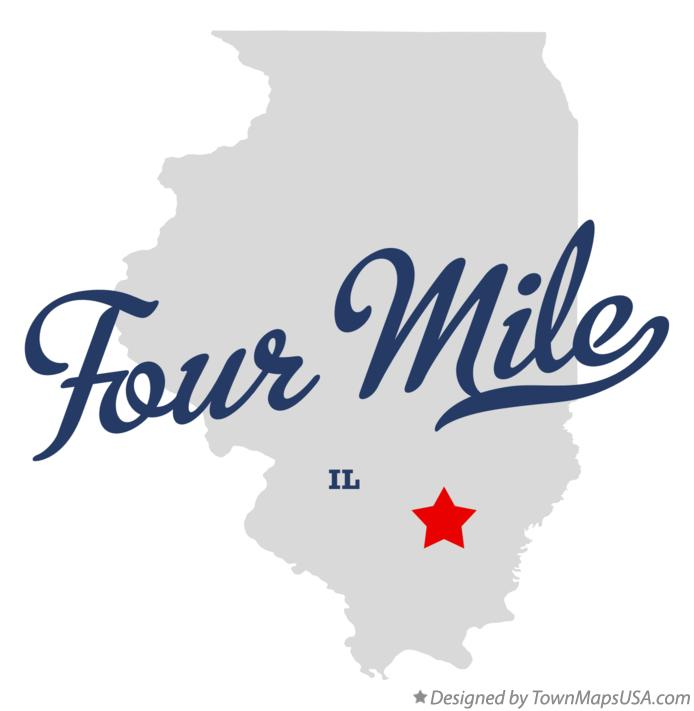 Map of Four Mile Illinois IL