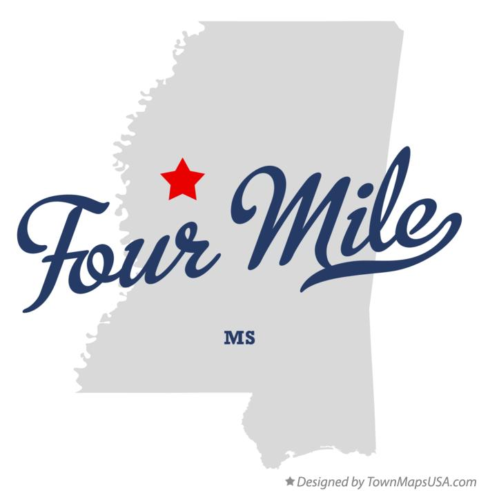 Map of Four Mile Mississippi MS