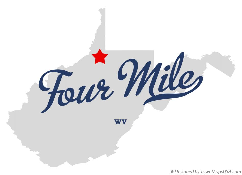 Map of Four Mile West Virginia WV