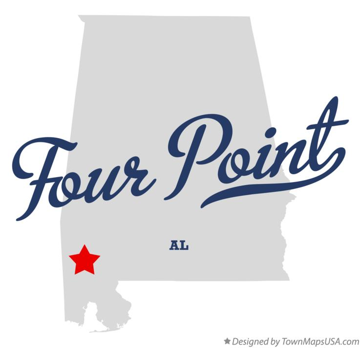 Map of Four Point Alabama AL