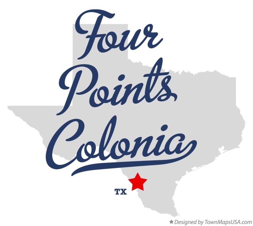 Map of Four Points Colonia Texas TX