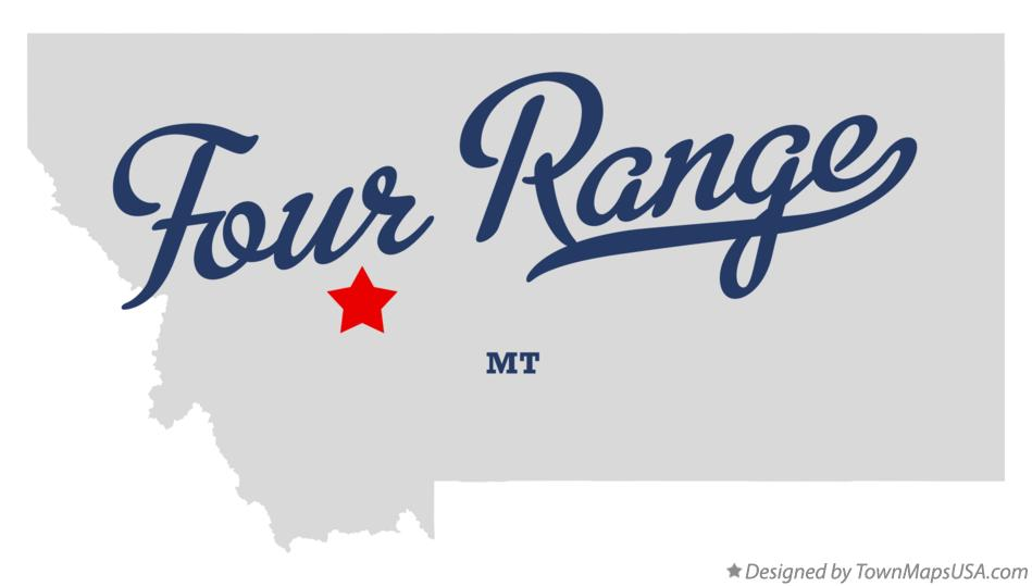 Map of Four Range Montana MT