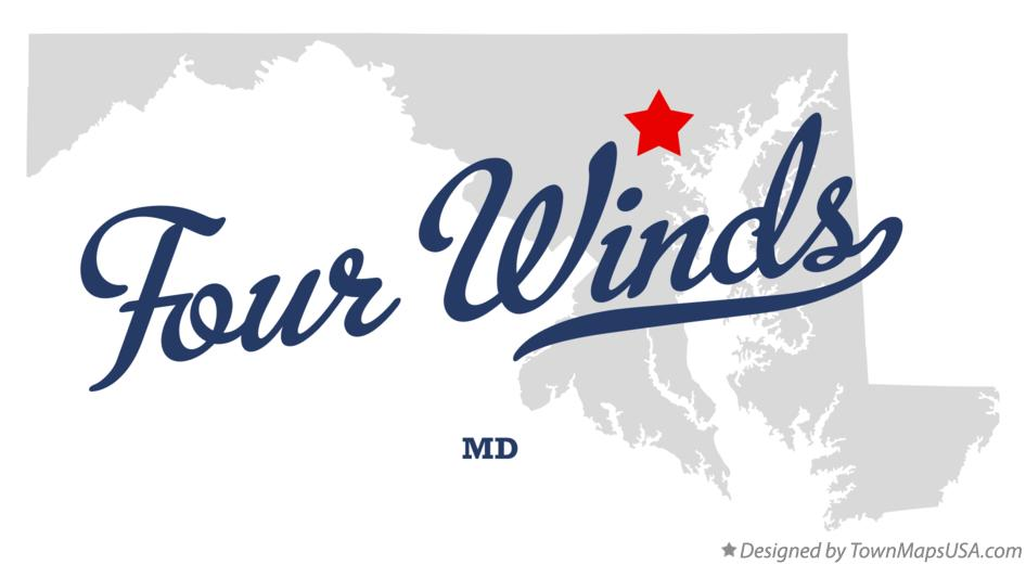 Map of Four Winds Maryland MD