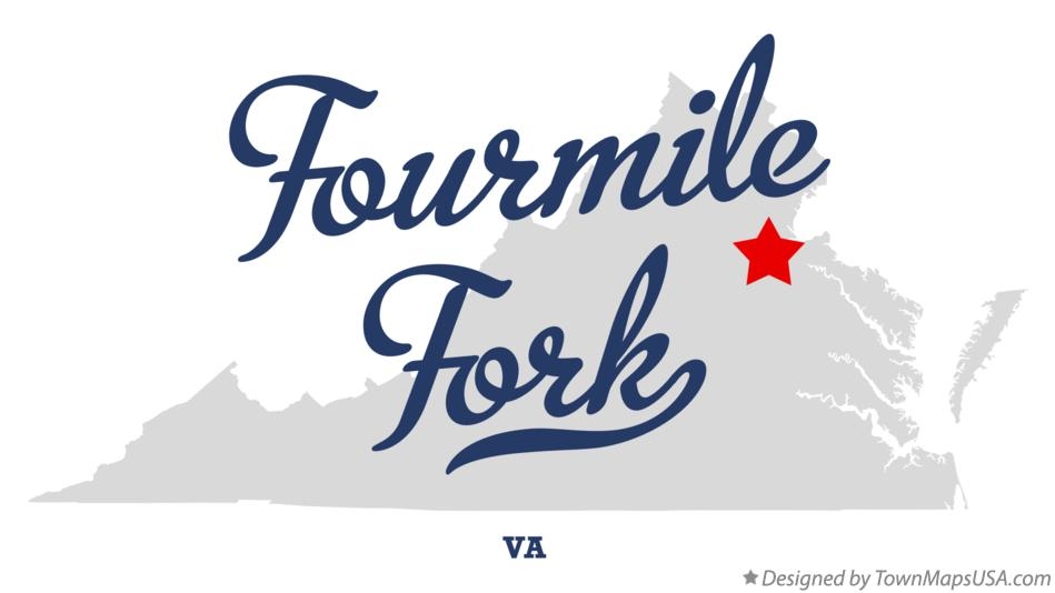 Map of Fourmile Fork Virginia VA
