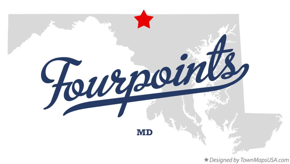 Map of Fourpoints Maryland MD