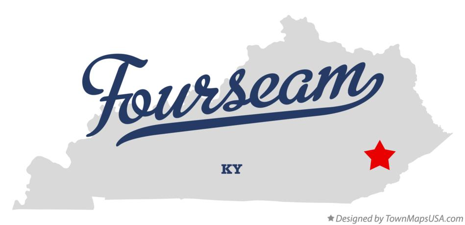 Map of Fourseam Kentucky KY