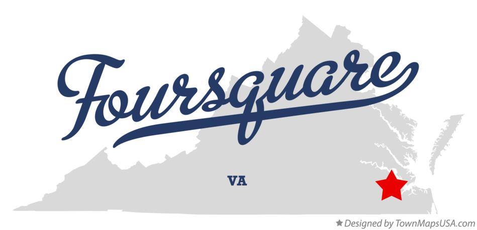 Map of Foursquare Virginia VA