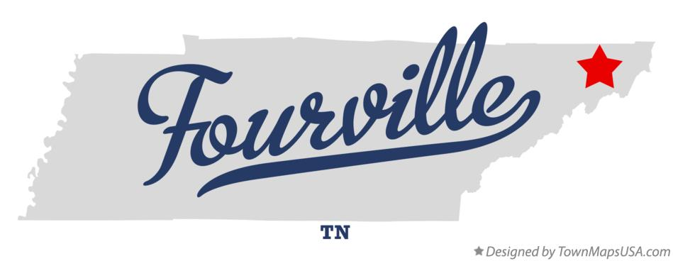Map of Fourville Tennessee TN