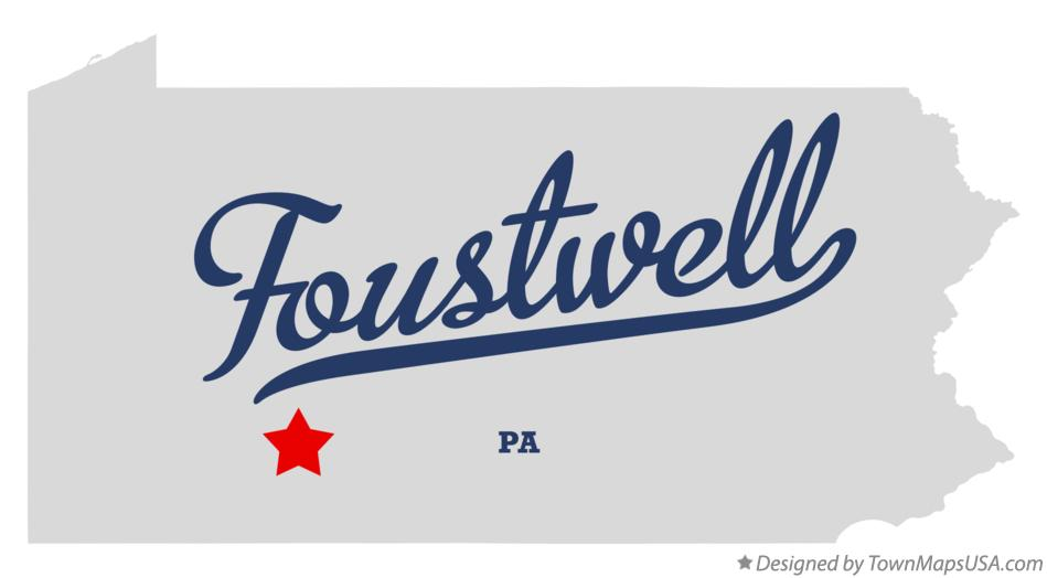 Map of Foustwell Pennsylvania PA