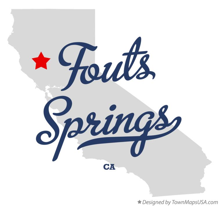Map of Fouts Springs California CA