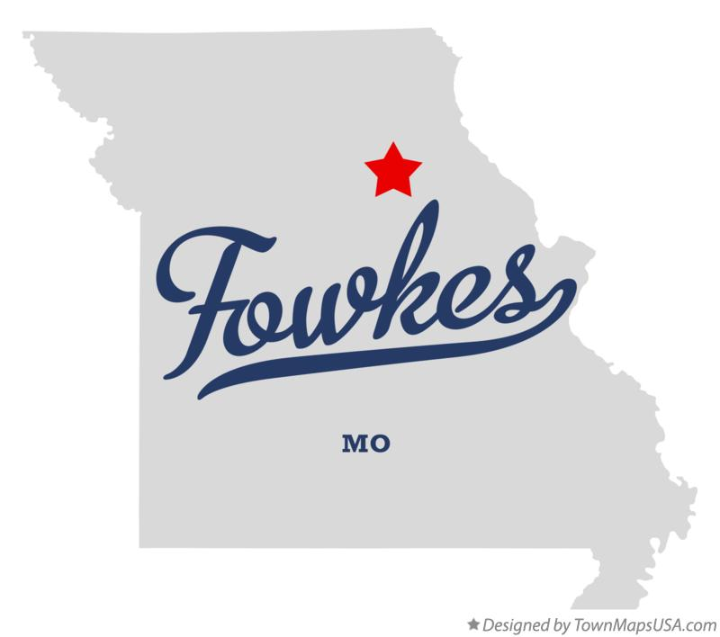 Map of Fowkes Missouri MO