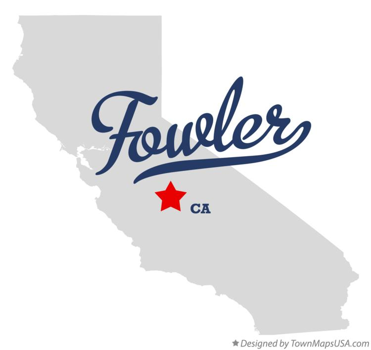 Map of Fowler California CA