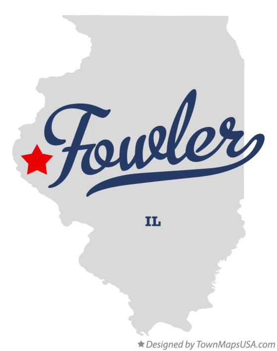 Map of Fowler Illinois IL