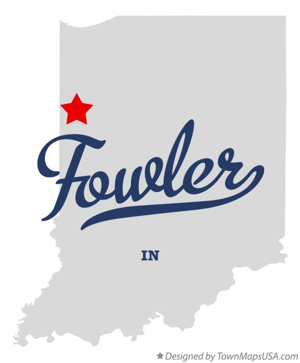Map of Fowler Indiana IN
