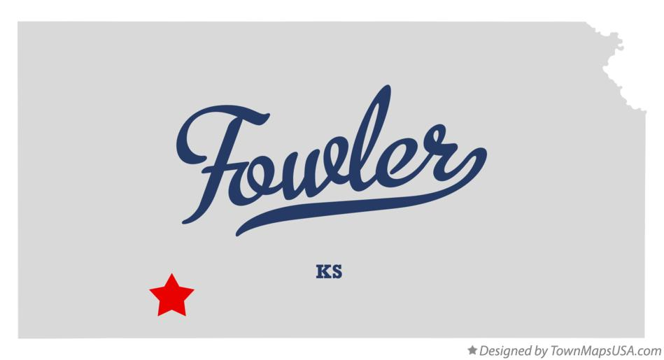 Map of Fowler Kansas KS