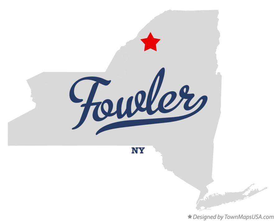 Map of Fowler New York NY
