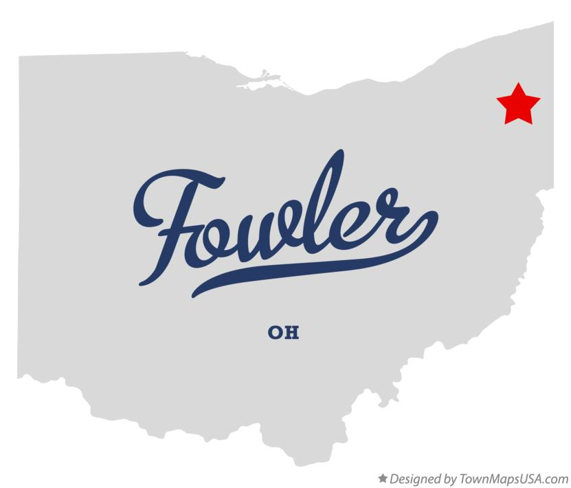 Map of Fowler Ohio OH