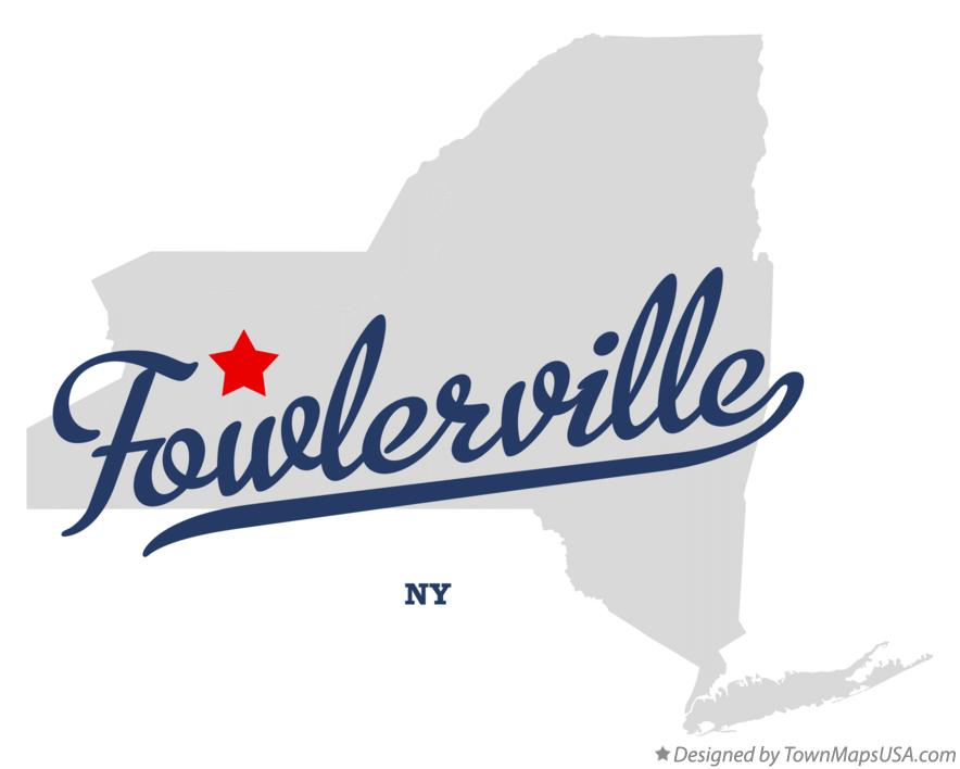 Map of Fowlerville New York NY