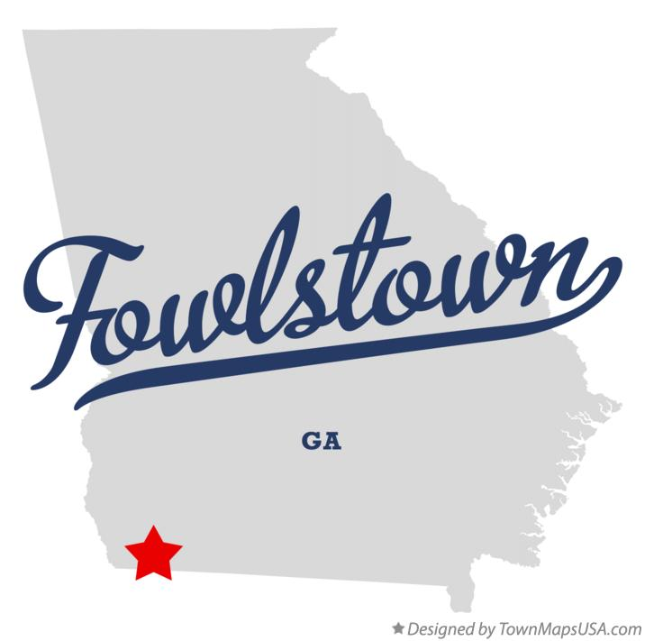 Map of Fowlstown Georgia GA