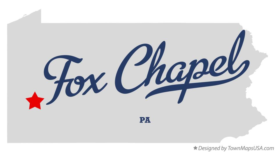 Map of Fox Chapel Pennsylvania PA