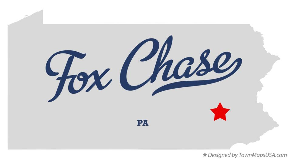Map of Fox Chase Pennsylvania PA