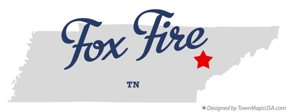 Map of Fox Fire Tennessee TN