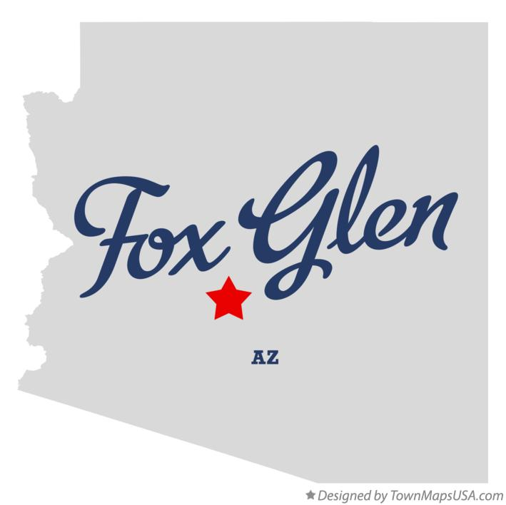 Map of Fox Glen Arizona AZ
