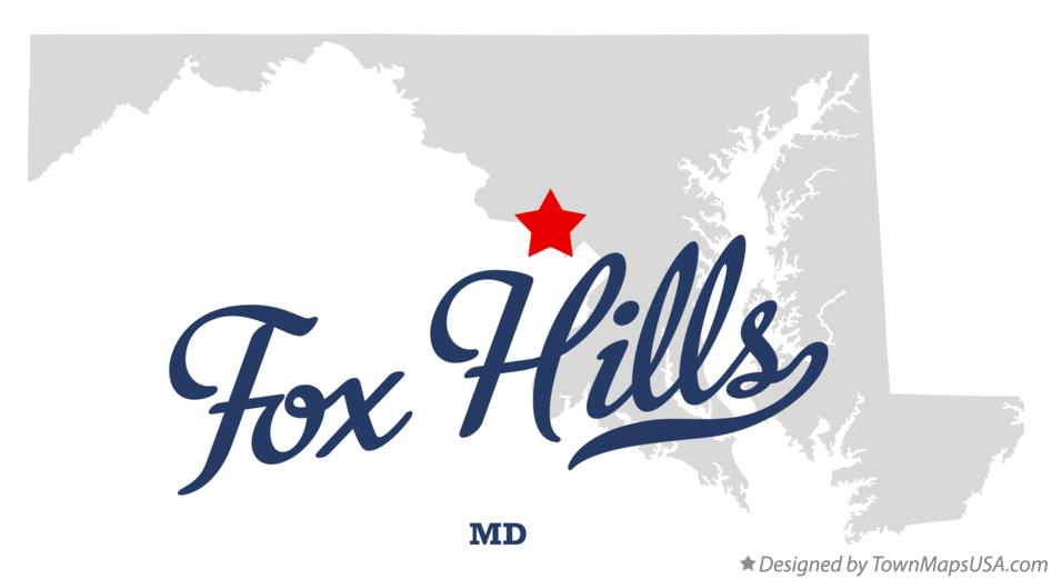 Map of Fox Hills Maryland MD