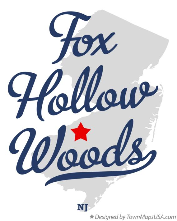 Map of Fox Hollow Woods New Jersey NJ