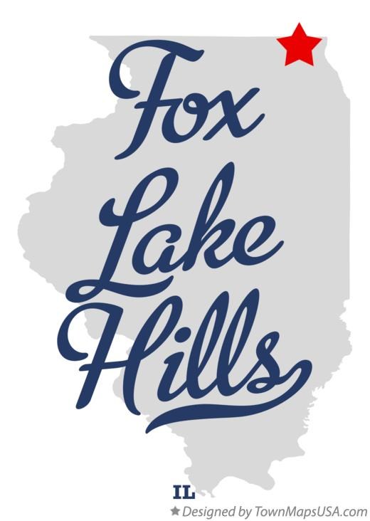 Map of Fox Lake Hills Illinois IL