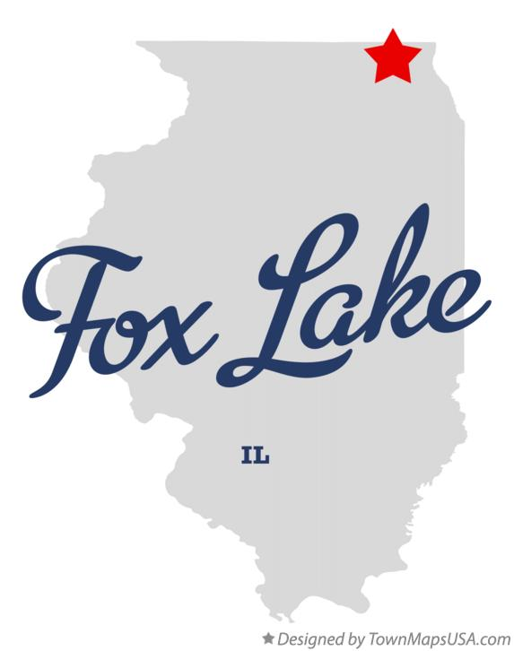 Map of Fox Lake Illinois IL