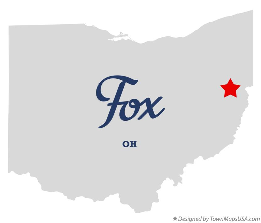 Map of Fox Ohio OH