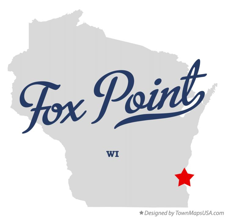 Map of Fox Point Wisconsin WI