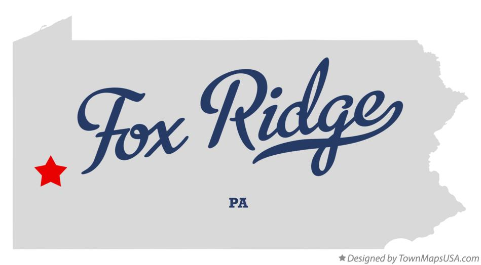 Map of Fox Ridge Pennsylvania PA