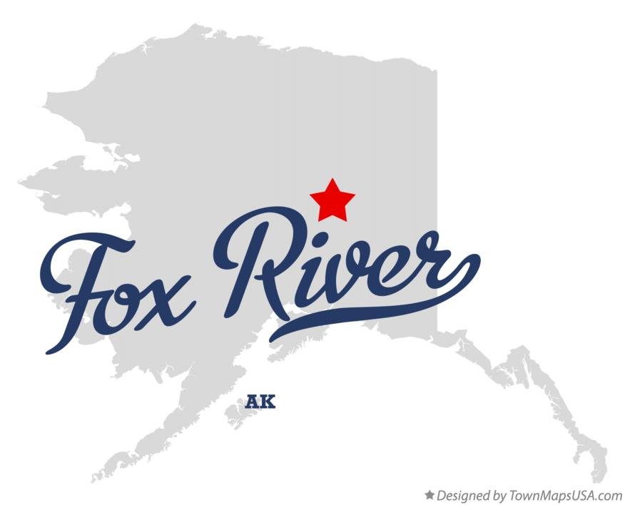Map of Fox River Alaska AK