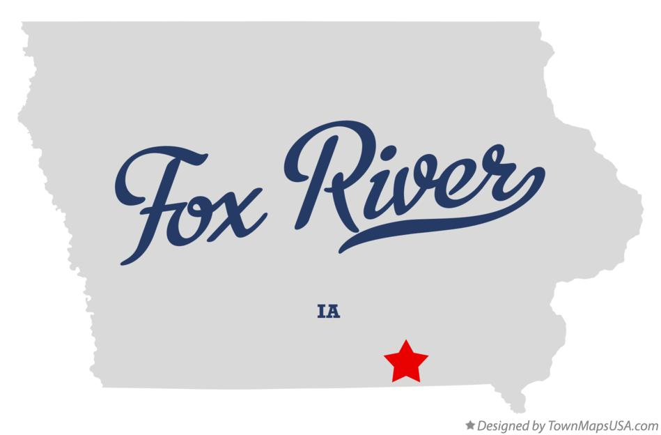 Map of Fox River Iowa IA
