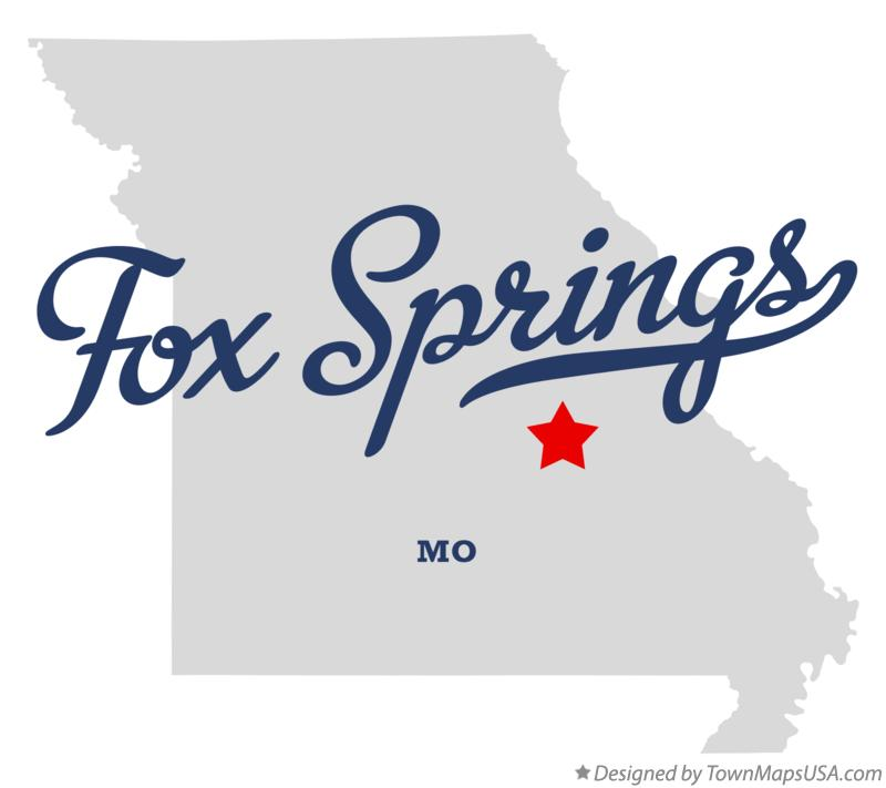 Map of Fox Springs Missouri MO