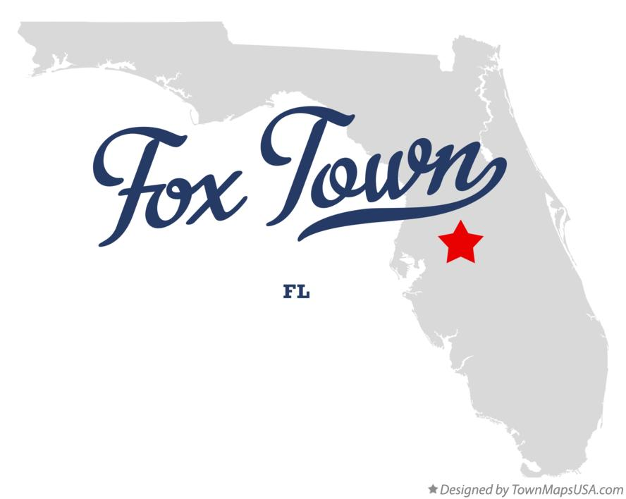 Map of Fox Town Florida FL