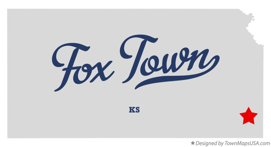 Map of Fox Town Kansas KS