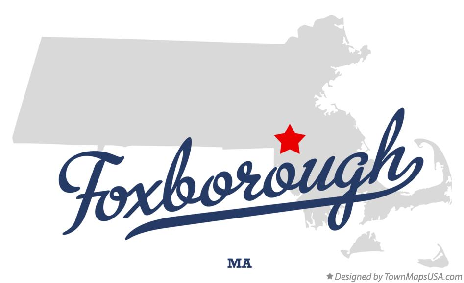 Map of Foxborough Massachusetts MA