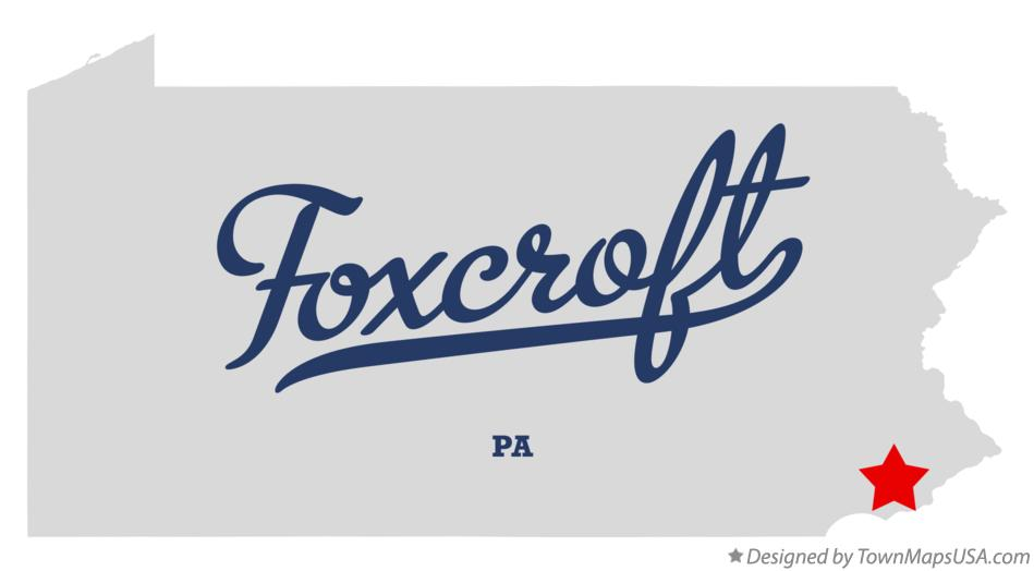 Map of Foxcroft Pennsylvania PA