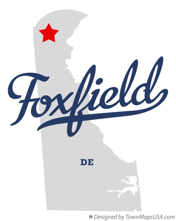 Map of Foxfield Delaware DE
