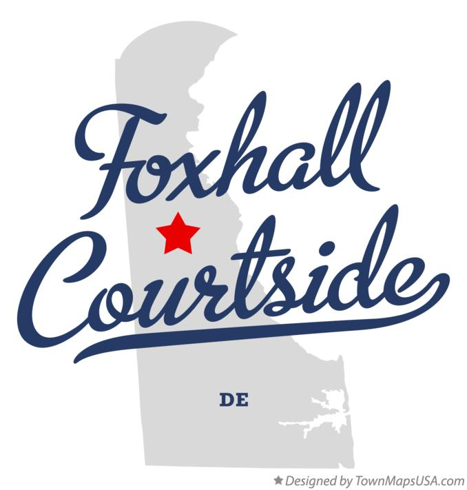 Map of Foxhall Courtside Delaware DE
