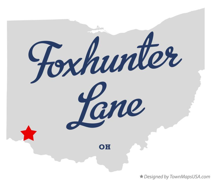 Map of Foxhunter Lane Ohio OH