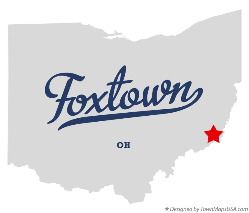 Map of Foxtown Ohio OH